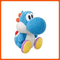 Light Blue Yarn Yoshi Amiibo (Yoshi's Woolly World Series) - Fun stuff and gift ideas (*Amazon Partner-Link)