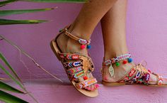 Handmade greek leather sandals made to order. Betty Boop are a special pair of hippie chic sandals ideal for a stylish appearence that combins Betty Boop, Leather Gladiator Sandals, Flat Sandals, Beach Sandals, Leather Flats, Beach Shoes, Brown Sandals, Strappy Sandals, Leather Cord