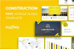 Construction Free Download Google Slides Template Free Powerpoint Presentations, Powerpoint Template Free, Powerpoint Presentation Templates, Data Charts, Construction, Graphics, Google, Building, Graphic Design