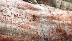 Αμαζόνιος: Χιλιάδες βραχογραφίες 12.000 ετών - Ζώα που έχουν εξαφανιστεί και άνθρωποι που χορεύουν   LiFO Human Painting, Human Drawing, Exeter, Art Rupestre, Sistine Chapel, Extinct Animals, Amazon Rainforest, Ice Age, Old Paintings