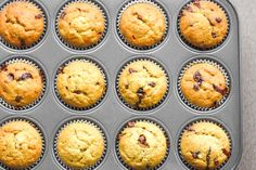 Banana Chocolate Chip Muffins: There is no better combination than banana and chocolate! These muffins make the perfect breakfast, snack or dessert | aheadofthyme.com