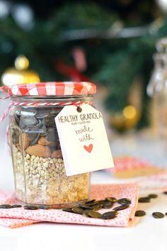 Cadeau gourmand pour Noël : kit pour granola homemade (vegan, sans gluten) www.sweetandsour.fr