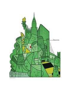 Cities by Ale Giorgini, via Behance (Reminds me of Power Puff Girls!) :D