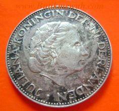 1959 Dutch 2.5 Silver Guilders