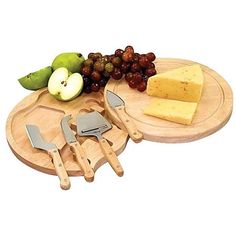 Picnic Time Circo Cheese Set ($25) ❤ liked on Polyvore featuring home, kitchen & dining, food and fillers