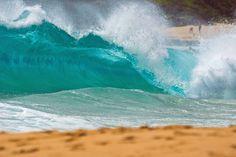 Sandy Beach, Oahu  Crazy, dangerous, shore break here but still one of my favorite beaches.