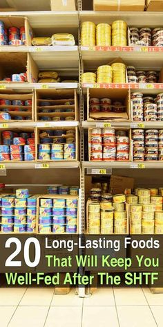 If you haven't already stocked up on survival food, you should get started. There are plenty of long-lasting foods that you can find in any grocery store. Best Emergency Food, Emergency Preparedness Food, Prepper Food, Emergency Food Storage, Emergency Food Supply, Emergency Preparation, Survival Food, Survival Prepping, Survival Supplies