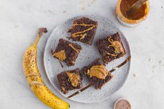 This Chocolate, Peanut Butter & Banana Baked Oatmeal is Vegan, Gluten-Free, and full of plant based protein to help power you through your day.