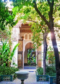 Bahia Palace entrance