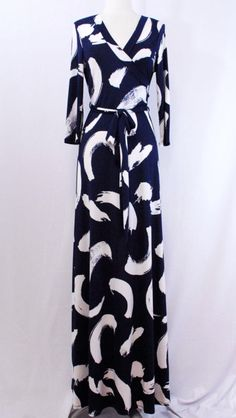 Navy & White Brush Faux Maxi order at Shannasthreads.com