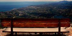 Un banco sobre el Pico de La Concha Mountains, Nature, Travel, National Parks, Shells, Naturaleza, Viajes, Trips, Nature Illustration