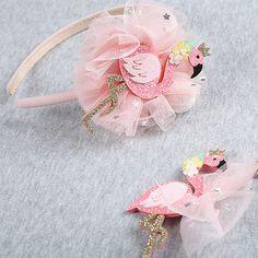 Glitter Felt Hair Clip HeadbandFlamingo Hair clipsGlitter