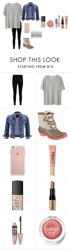 """""""Everyday outfit"""" by emipooh ❤ liked on Polyvore featuring Boohoo, T By Alexander Wang, maurices, Sperry, Too Faced Cosmetics, NARS Cosmetics, Bobbi Brown Cosmetics, Maybelline, Clinique and Michael Kors"""