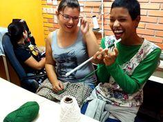 oficina de tricot #BAZARCOLETIVO1 #economiaCriativa #economiaSolidaria #economiadoCompartilhamento