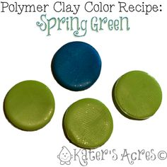 Polymer Clay Color Recipe for Spring Green by KatersAcres ~ Polymer Clay Color Mix