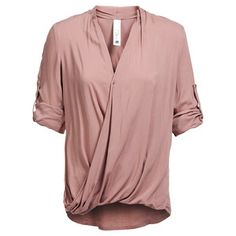 Breathe Draped Shirt Rosé, 109€, now featured on Fab.