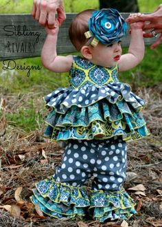 Kara's Baby Triple Ruffle Pants and Capris PDF Pattern - Create Kids Couture