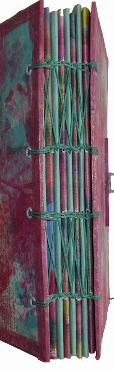 Coptic binding variation on handmade book  by Corinne Stubson #bindings