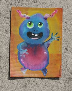 Waiting to go out on #freeartfriday a little monster who wants you to take him home. #racheljenkinson