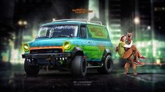 Mystery Machine Ford Transit ScoobyDoo series by yasiddesign on DeviantArt