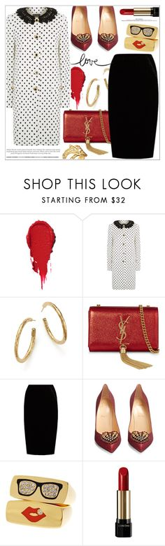 """""""Come and get it!"""" by teryblueberry ❤ liked on Polyvore featuring Dolce&Gabbana, Ippolita, Yves Saint Laurent, Jupe By Jackie, Christian Louboutin, Lancôme and Kate Spade"""