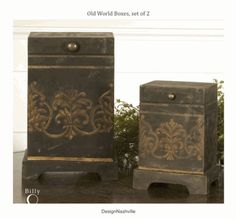 Old World Boxes, set of 2