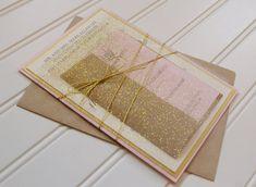 Gold and Blush Invitations: Unique Handmade von AnnaLouAvenue