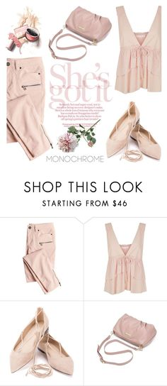 """Color Me Pretty: Head-to-Toe Pink"" by helenevlacho on Polyvore featuring Victoria's Secret, See by Chloé, Crate and Barrel, contestentry and monochromepink"