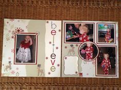 christmas scrapbook layouts pinterest | Christmas scrapbook layout.