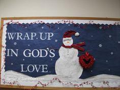 Winter bulletin board for church