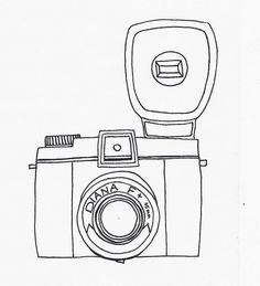 Camera sketch. by lu loves handmade, via Flickr