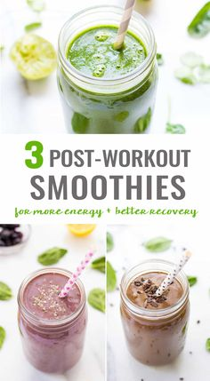3 Post-Workout Smoothies - Simply Quinoa