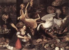 Nieulandt, Adriaen van the Younger (1587-1658) Kitchen Scene