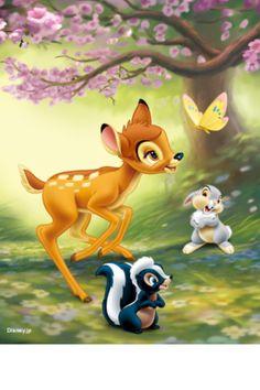 Bambi and friends pieces) - Trend Disney Stuff 2019 Bambi Disney, Disney Pixar, Walt Disney, Disney Animation, Heros Disney, Disney Cartoon Characters, Cute Disney, Disney Cartoons, Disney Art
