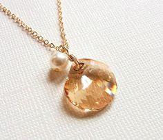 Jewel of Mermaid  swarovski crystal necklace by CocoroJewelry, $28.00