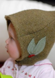 elf hat upcycled sweater toddler etsykids by mosey on Etsy Waldorf Crafts, Waldorf Toys, Sewing For Kids, Baby Sewing, Elf Hat, Gnome Hat, Felt Baby, Felt Toys, Felt Crafts