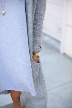 Grey layers.
