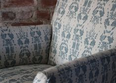 Vintage Chair Re-upholstered by FAYCE Textiles- Sticks & Bricks