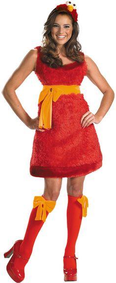 womenu0027s costume elmo sassy   medium  sc 1 st  Pinterest & Sesame Street Elmo Costume - Toddler Kids Unisex Size: 2T ...