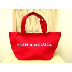 ディーン&デルーカ DEAN&DELUCA 171045 スモール コットン トートバッグ レッド COTTON SHOPPING TOTE SMALL RED「あすつく」商品画像1