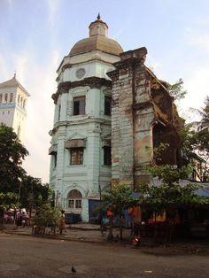 Impressive Old British Colonial Building Dilapidating Yangon Burma