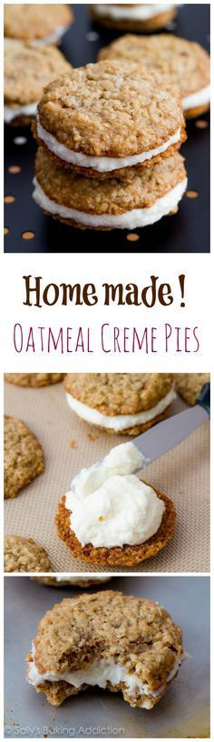 Homemade Little Debbie Oatmeal Creme Pies