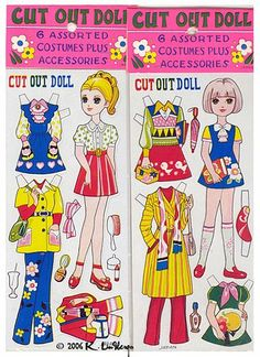 Japanese Cut Out Dolls