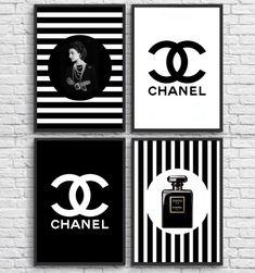 Chanel Logo, Coco Chanel, Chanel Wall Art, Chanel Decor, Chanel Inspired Room, Architectural Prints, Glam Room, Fashion Wall Art, Art Logo