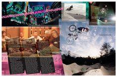 Chase BMX Magazine  I like the treatment around the edges of the photos