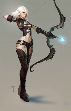 fantasy art by Tyler james. Really like the concept art! Reminds me of rpg style Fantasy Art Women, Dark Fantasy Art, Fantasy Girl, Fantasy Artwork, Female Character Design, Character Concept, Character Art, Elfa, Fantasy Characters