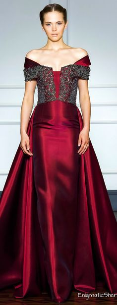 Oh, this fabric!!! It's just to die for. (mkc)--Dilek Hanif Haute Couture Fall Winter 2014-15 from Juana Martin.