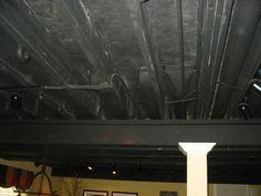 Basement diy on pinterest basements basement storage for Ways to finish a ceiling