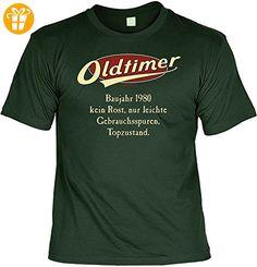 Lustiges Geburtstags T-Shirt zum 37.Geburstag : Oldtimer Baujahr 1980 Größe: XXL Farbe: dunkelgrün + GRATIS Urkunde - Shirts zum geburtstag (*Partner-Link)