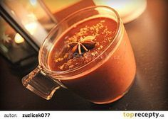 Domácí horká čokoláda se skořicí recept - TopRecepty.cz Beverages, Drinks, Cocktails, Moscow Mule Mugs, Mason Jars, Food And Drink, Smoothie, Tableware, Gardening